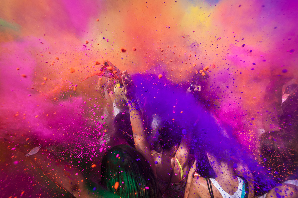 Holi festival in India, ranked #20 in our countdown of '100 Ultimate Travel Experiences of a Lifetime'.