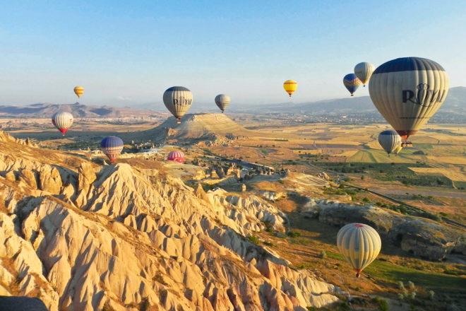 Hot air balloon ride over Cappadocia, Turkey, ranked #81 in our countdown of '100 Ultimate Travel Experiences of a Lifetime'.