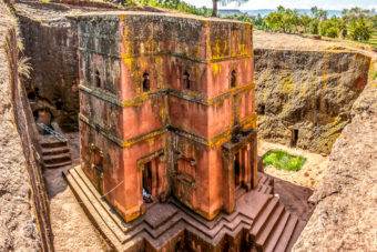 Lalibela, Ethiopia, ranked #83 in our countdown of '100 Ultimate Travel Experiences of a Lifetime'.