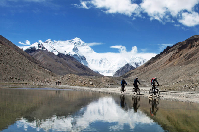 Cycling from Lhasa to Kathmandu.