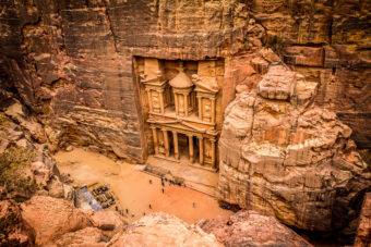 Petra in Jordan, ranked #9 in our countdown of '100 Ultimate Travel Experiences of a Lifetime'.