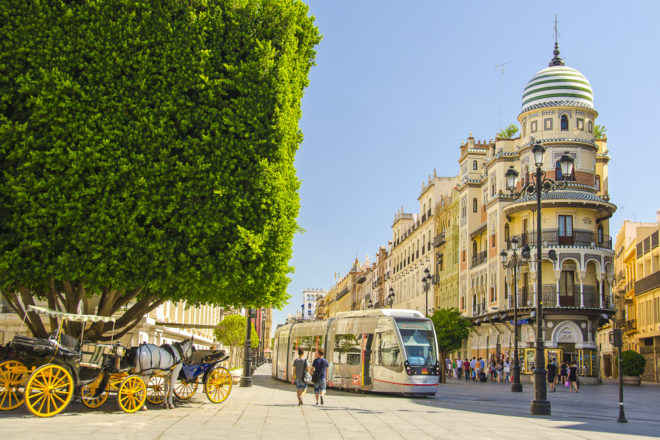 Seville in Spain, ranked #32 in our countdown of '100 Ultimate Travel Experiences of a Lifetime'.