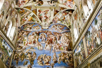 The Sistine Chapel in the Vatican City, ranked #69 in our countdown of '100 Ultimate Travel Experiences of a Lifetime'.