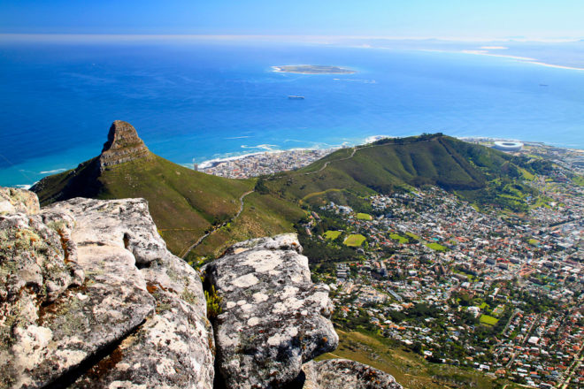 Table Mountain in Cape Town, ranked #50 in our countdown of '100 Ultimate Travel Experiences of a Lifetime'.