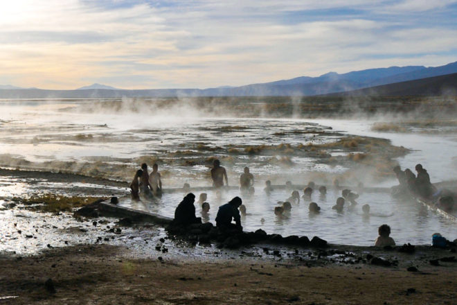 El Tatio Geysers in Chile, ranked #54 in our countdown of '100 Ultimate Travel Experiences of a Lifetime'.