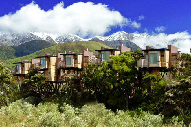 Hapuku Lodge and Tree Houses in Kaikoura, New Zealand.