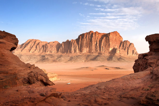 Wadi Rum in Jordan, ranked #62 in our countdown of '100 Ultimate Travel Experiences of a Lifetime'.