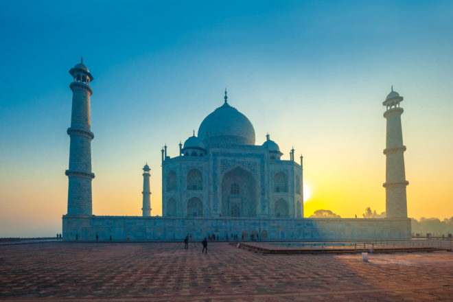 The Taj Mahal, ranked #7 in our countdown of '100 Ultimate Travel Experiences of a Lifetime'.