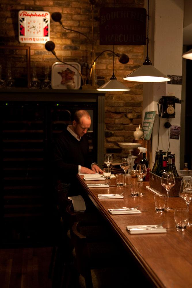Terroirs restaurant, London.