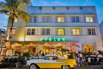 Avalon Hotel in Beverly Hills, USA.