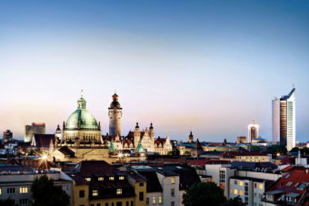 Leipzig's stunning city skyline. Photo by Leipzig Tourismus and Marketing GmbH
