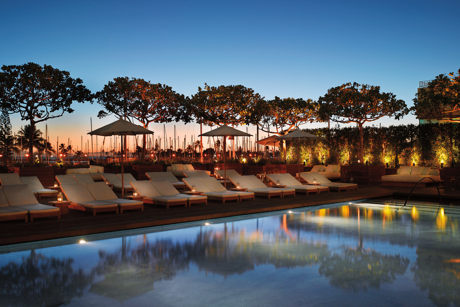 The Sunrise Pool is a fabulous space for families to splash about at The Modern Honolulu.