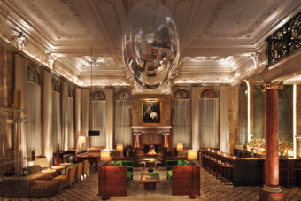 Inside the lavish London Edition hotel on Oxford Street, with Soho nightlife on the doorstep.