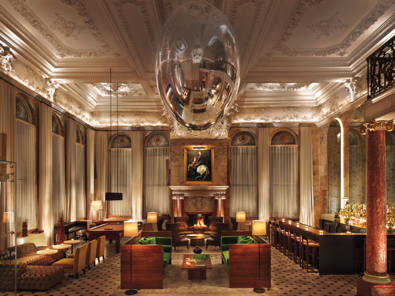 Inside the lavish London Edition hotel on Oxford Street, with Soho nightlife on the doorstep.