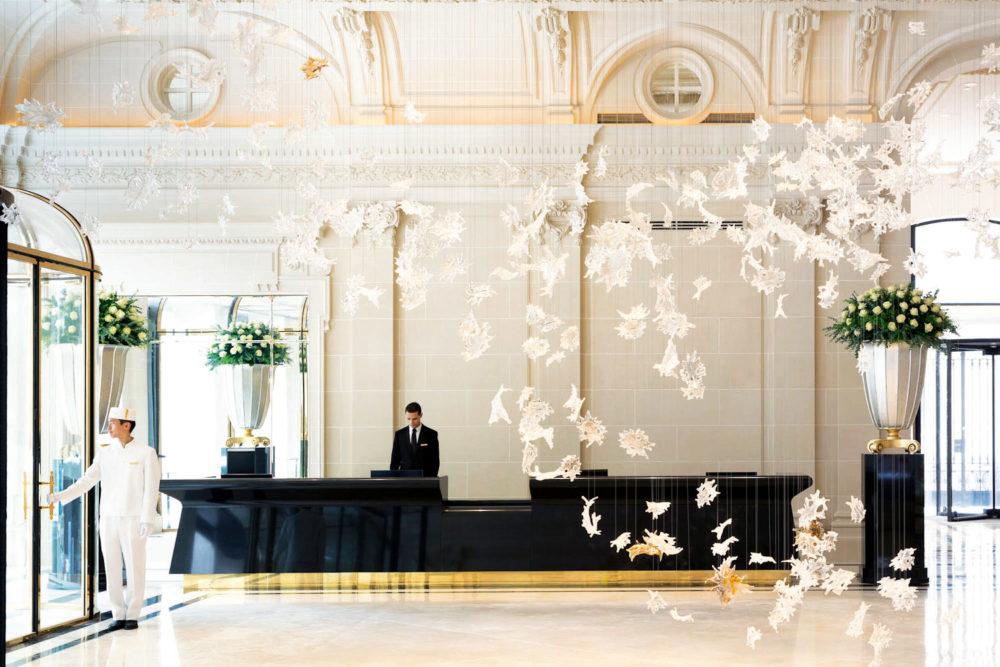The lavish new Peninsula Paris hotel.