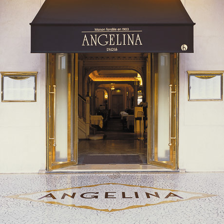 Angelina tea room on Rue de Rivoli, Paris.