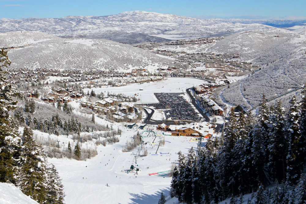 Deer Valley Resort's Snow Park Base Area.