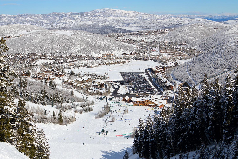 Deer Valley Resort's Snow Park Base Area.