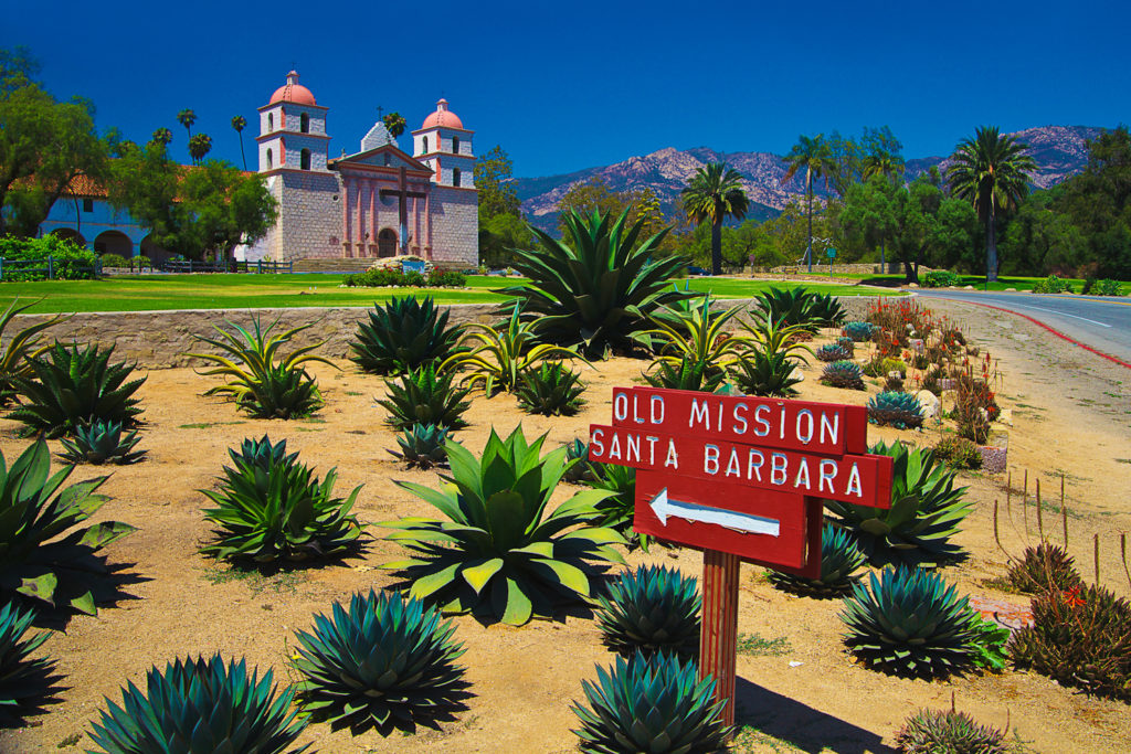 Santa Barbara Mission, California.