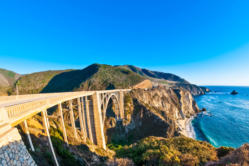 Bixby Bridge - one of the most iconic landmarks along California's coastline.