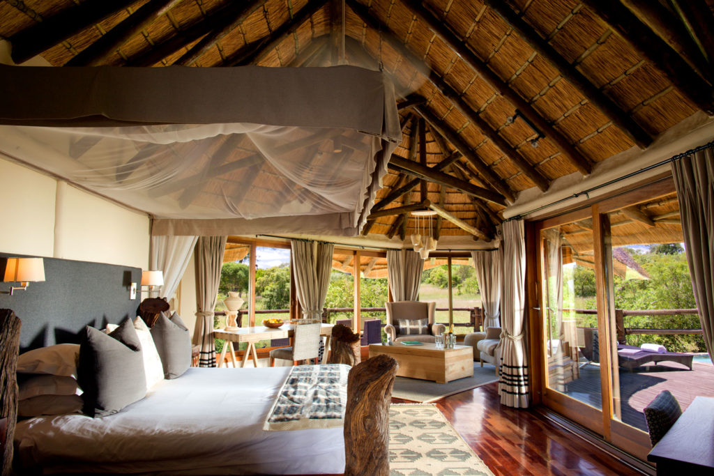 Inside the River Room at Ulusaba. Better still, rates are all inclusive with no hidden extras – you can even go behind the bar and help yourself to anything that you want, at any time.
