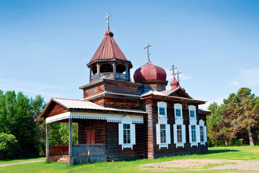 Irkutsk's open-air museum of Taltsy Village, Siberia.