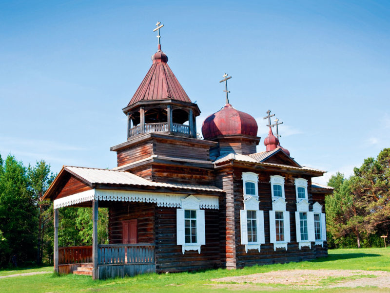 Irkutsk's open-air museum of Taltsy Village, Siberia.