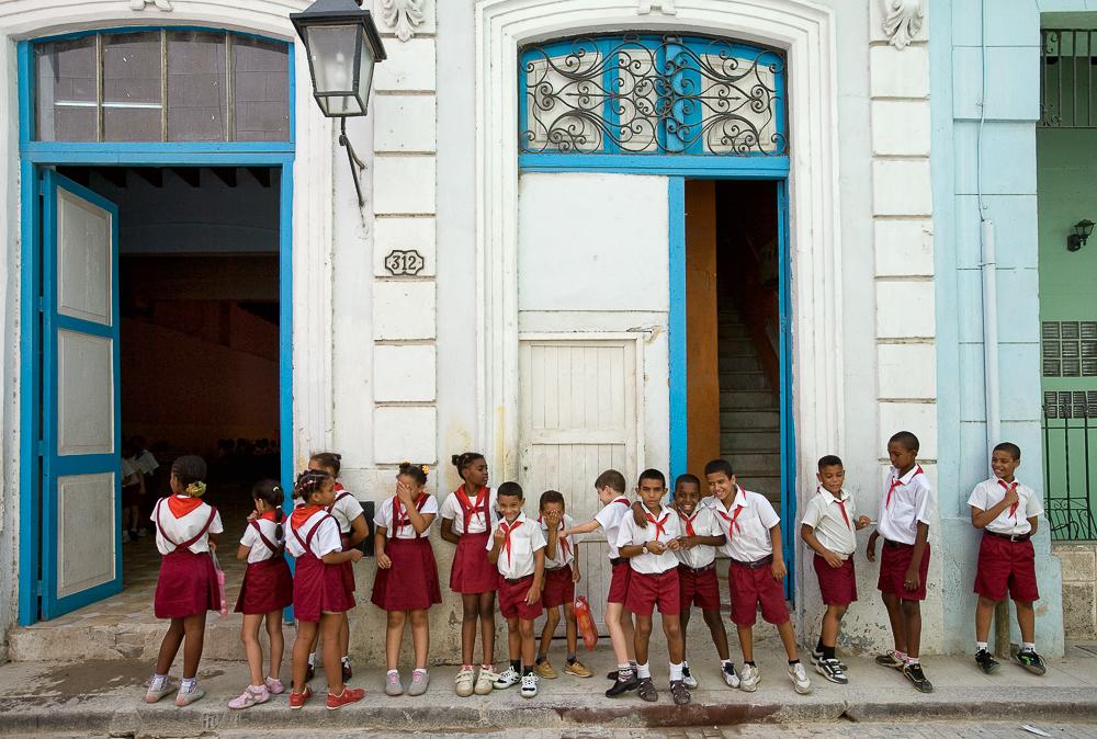 Local school children in Havana, Cuba.