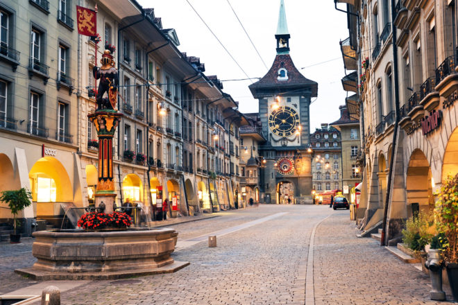 The famous clocktower of Bern, Switzerland.