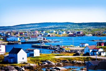 Tilting Harbour on Fogo Island, Canada.