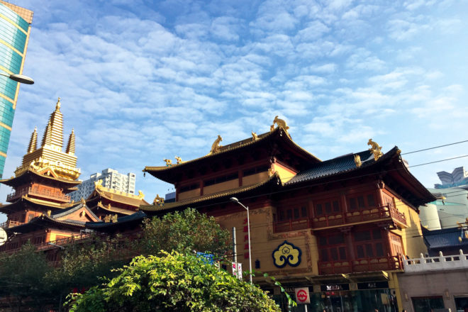 Jing'an Temple is a Buddhist temple on Shanghai's West Nanjing Road.