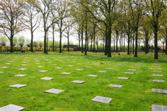 WWI cemetery in Ypres, Belgium.