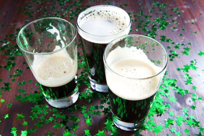 St Patrick's Day in Dublin, Ireland.