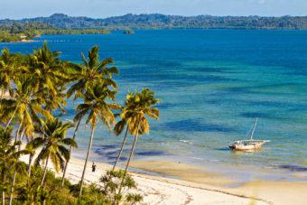 The sleepy Wambaa Beach in Zanzibar.