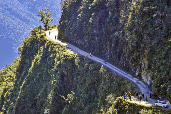 North Yungas Road (aka 'Death Road'), Bolivia.