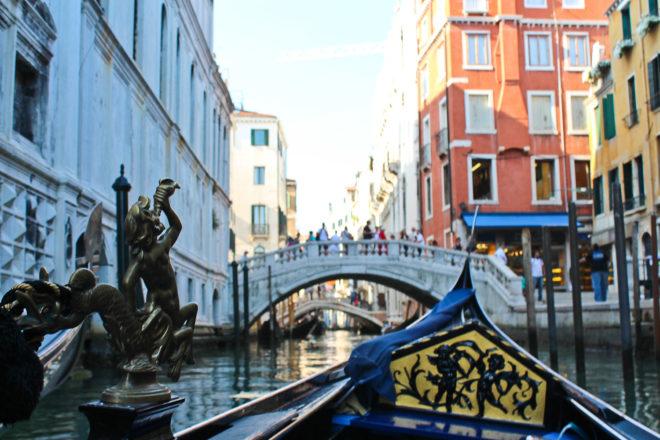 Family cruising holiday in Venice, Italy.
