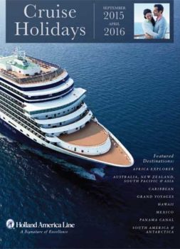 Holland America Cruise Holidays 2016