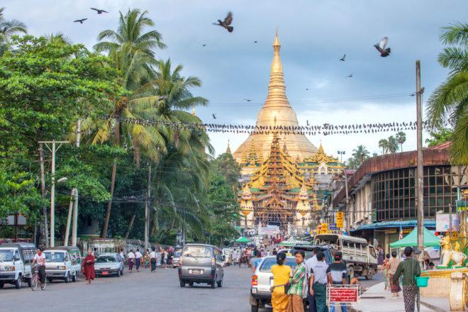 Yangon in Myanmar.