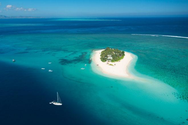 Beach holiday oasis, Fiji.