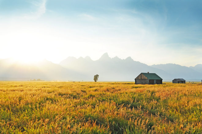 Grand Teton in Wyoming, USA