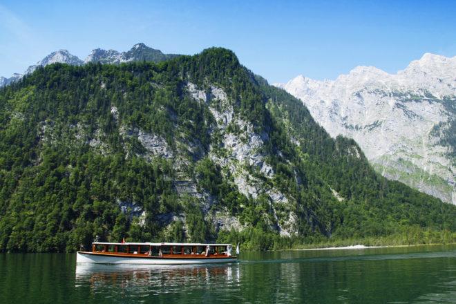 Lake Königssee in Salzburg, Austria.