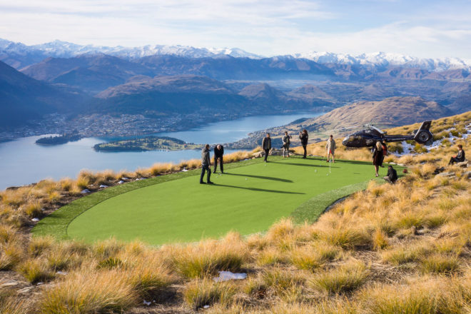 Over The Top Helicopter's golfing experience, near Queenstown, New Zealand.