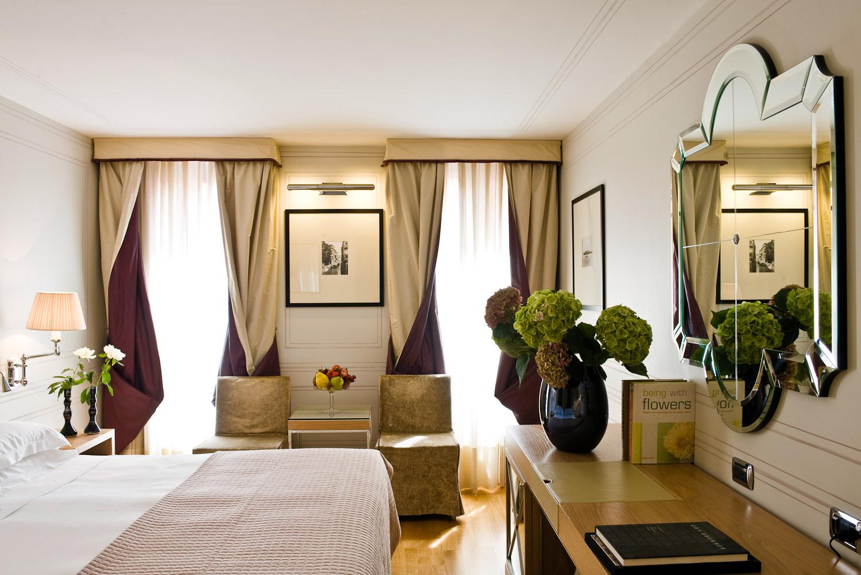 Inside a Superior Room at the Splendid Venice hotel.