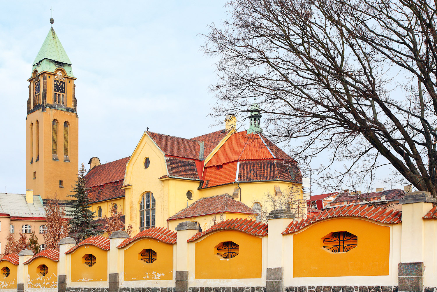 Franciscan Monastery in Pilsen, Czech Republic.