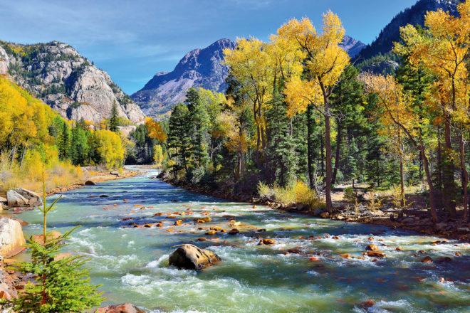 Maroon Bells peaks in Aspen, USA.