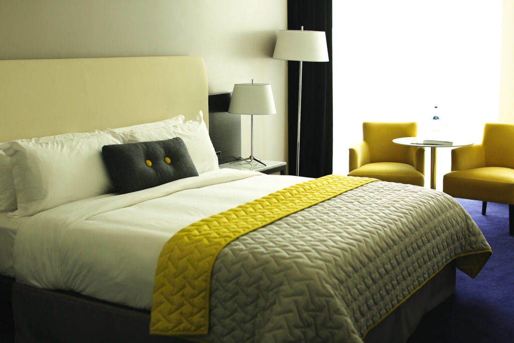 Inside a guest room at The Marker Hotel