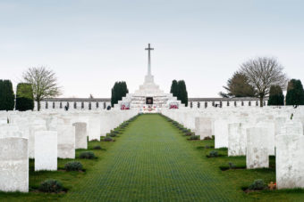 Tyne Cot World War I Cemetery, Belgium.
