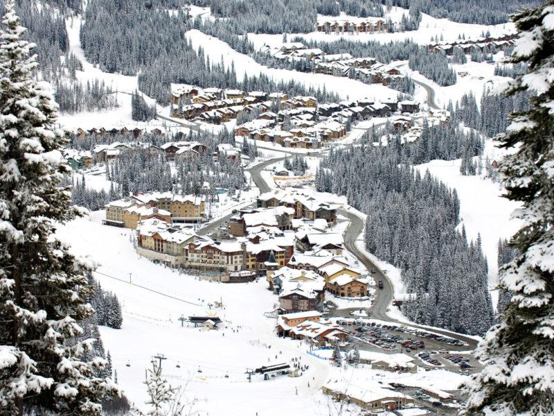 Sun Peaks ski resort, Canada.
