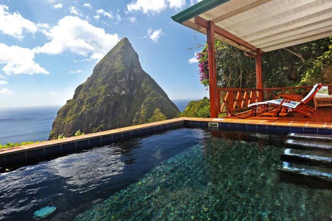 Ladera Resort in St Lucia, West Indies.