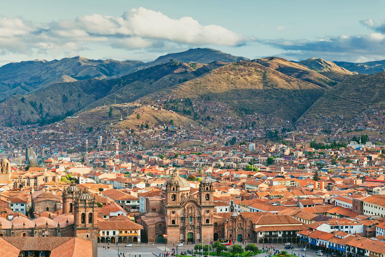 Plaza de Armas in Cuzco, Peru.